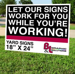 BL YardSign